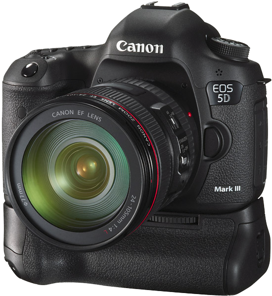 Canon 5D MarkIII with battery grip